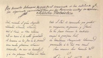 Letra completa del Himno Nacional Argentino