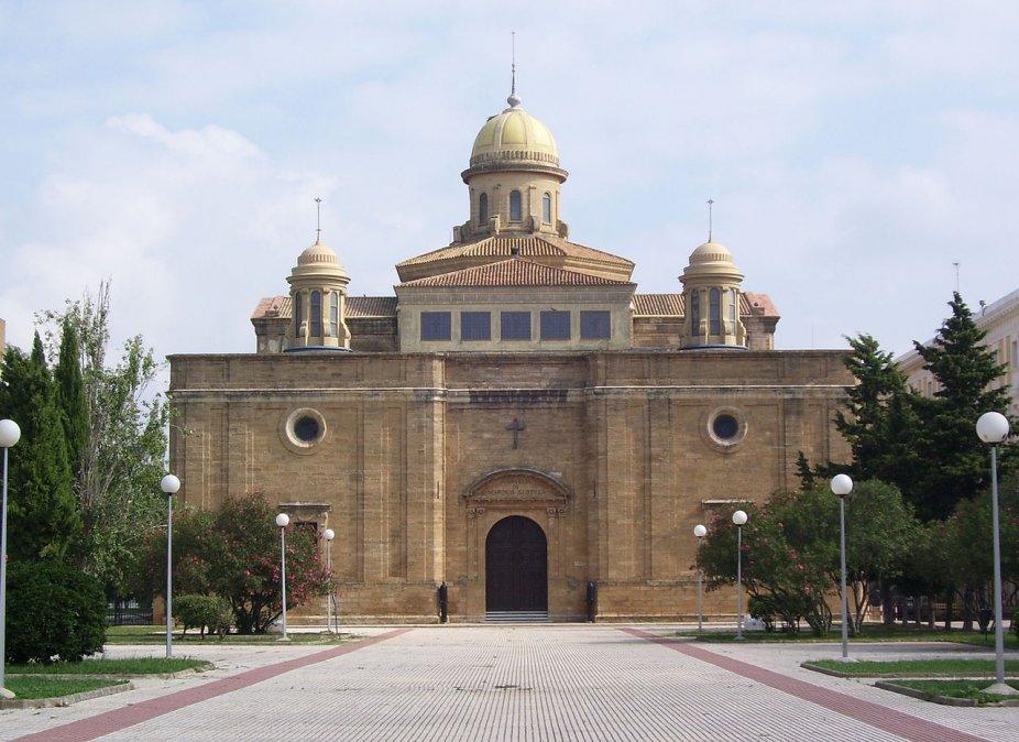 Portada del Panteón de Marinos Ilustres