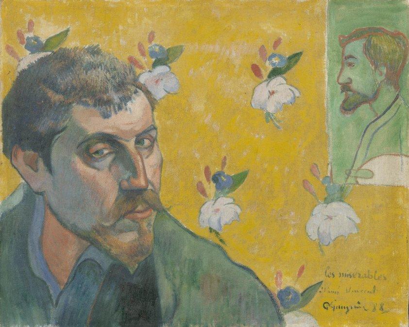 Autorretrato con retrato de Bernard (1888).