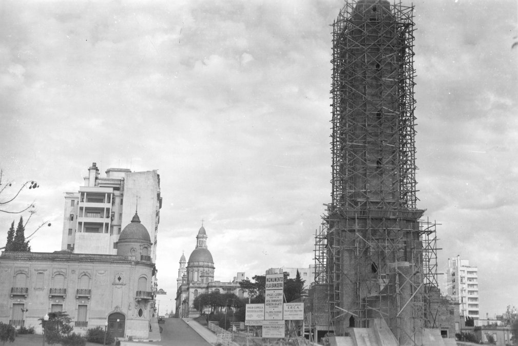 Construcción del Monumento a la Bandera