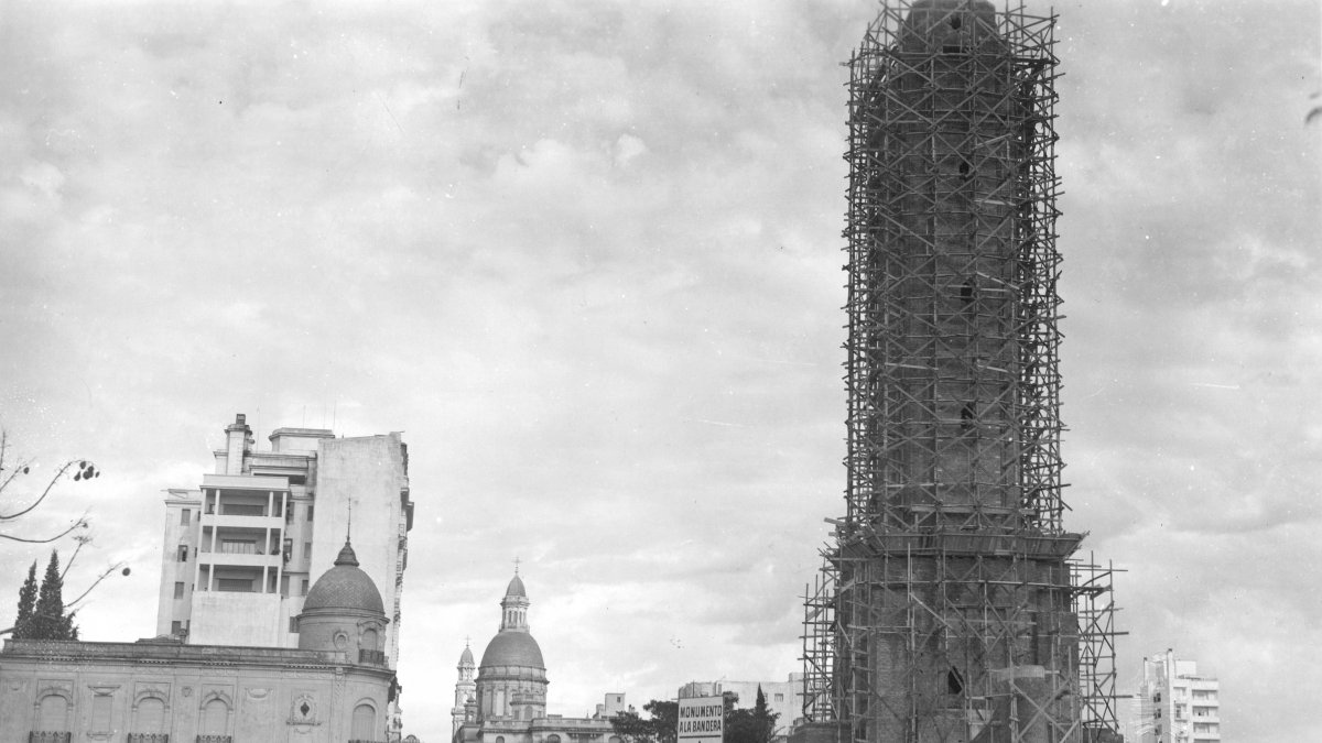 Construcción del Monumento a la Bandera, Rosario, Santa Fe.