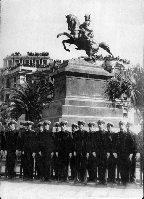Inauguración del Monumento al General Belgrano en Génova