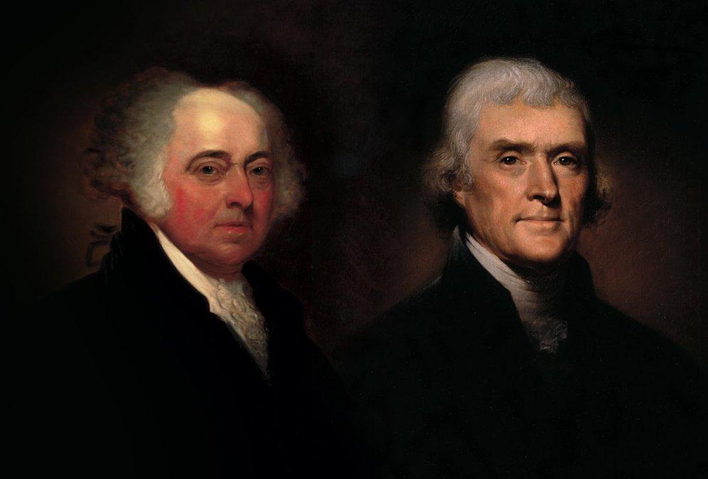 Adams y Jefferson.