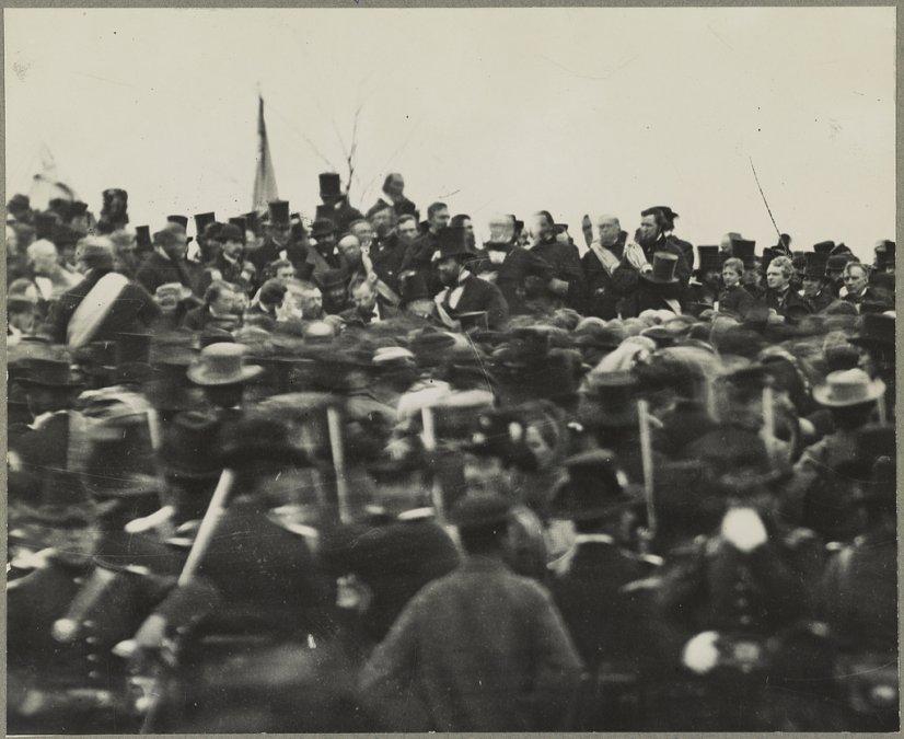La única fotografía corroborada de Lincoln en Gettysburg.