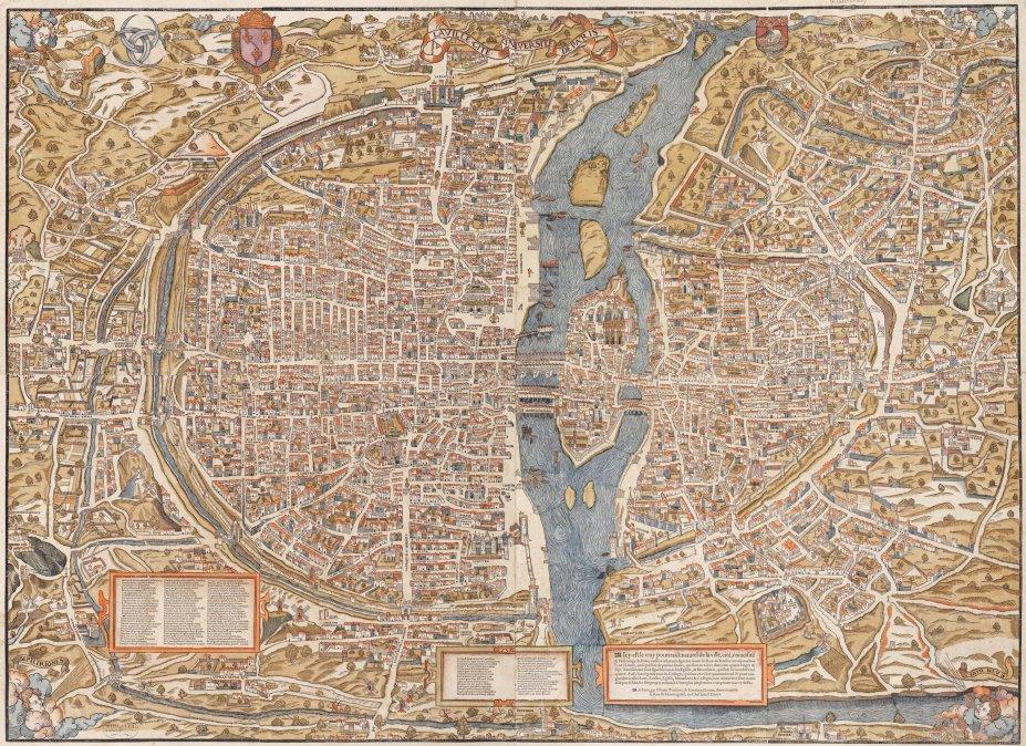 Mapa de la Vieja París.