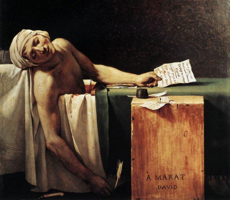 La muerte de Marat (detalle) • Jacques-Louis David • 1793•Museos reales de Bellas Artes de Bélgica