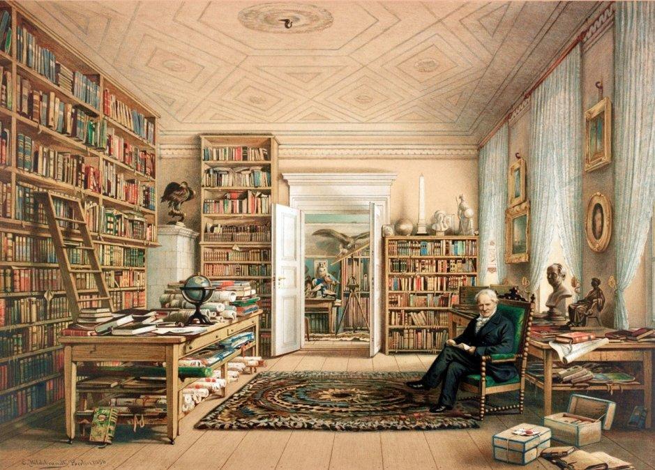 Humboldt por Eduard Hildebrant.