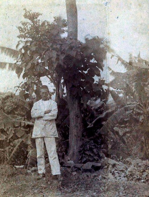 Rimbaud en Harar en 1883.