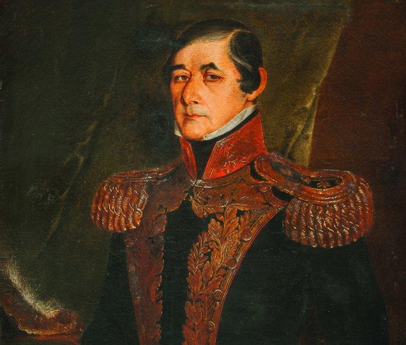 José Fructuoso Rivera y Toscana por Juan Manuel Blanes.