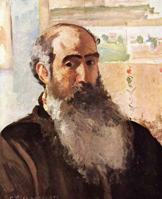 Autorretrato de Camille Pissarro (1873).
