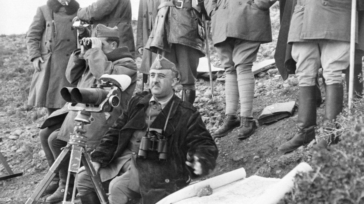 Franco en la Batalla del Ebro.