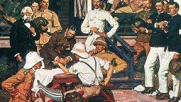 Conquistadores de la Fiebre Amarilla • Dean Cornwell • 1939-1942 • Laboratorios Wyeth, Filadelfia, U.S.A.