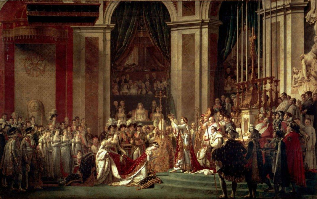 La coronación de Napoleón • Jacques-Louis David • 1807• Museo del Louvre