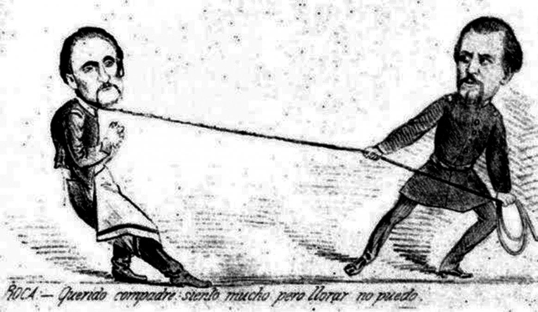 ROCA Y ARREDONDO. En la caricatura de 1874