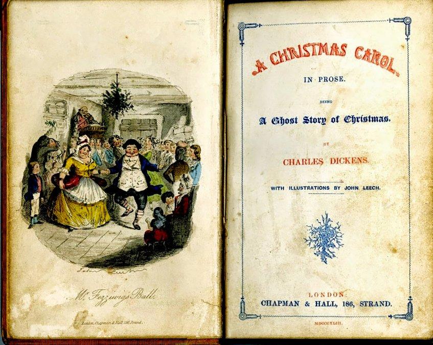 A Christmas Carol de Charles Dickens - Frontispiciode la primera edición de1843