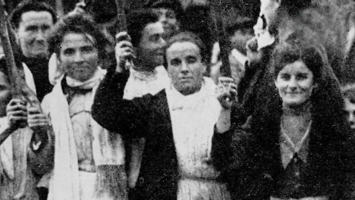 Mujer en huelga