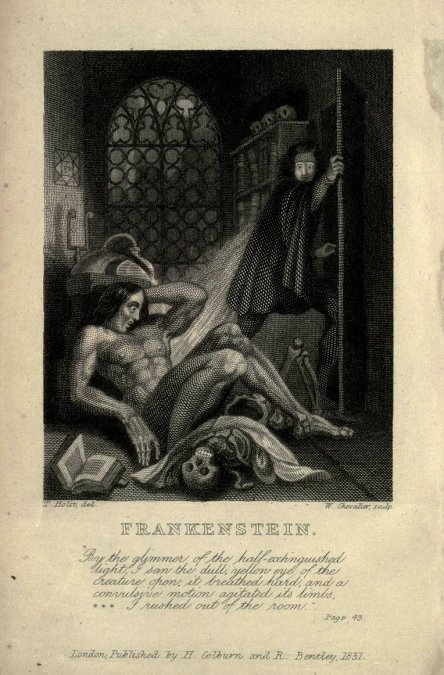 Frankenstein de Mary Shelley (1831).