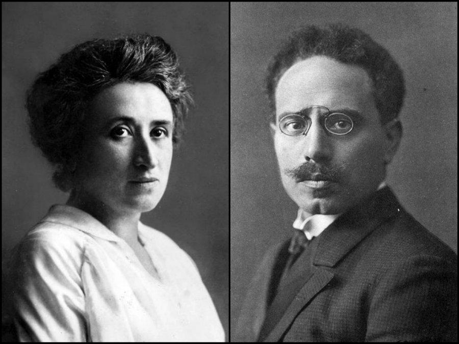 Rosa Luxemburgo (1871 - 1919) -Karl Liebknecht (1871 - 1919).