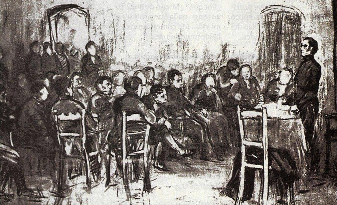Asamblea del año XIII. Boceto de la época.