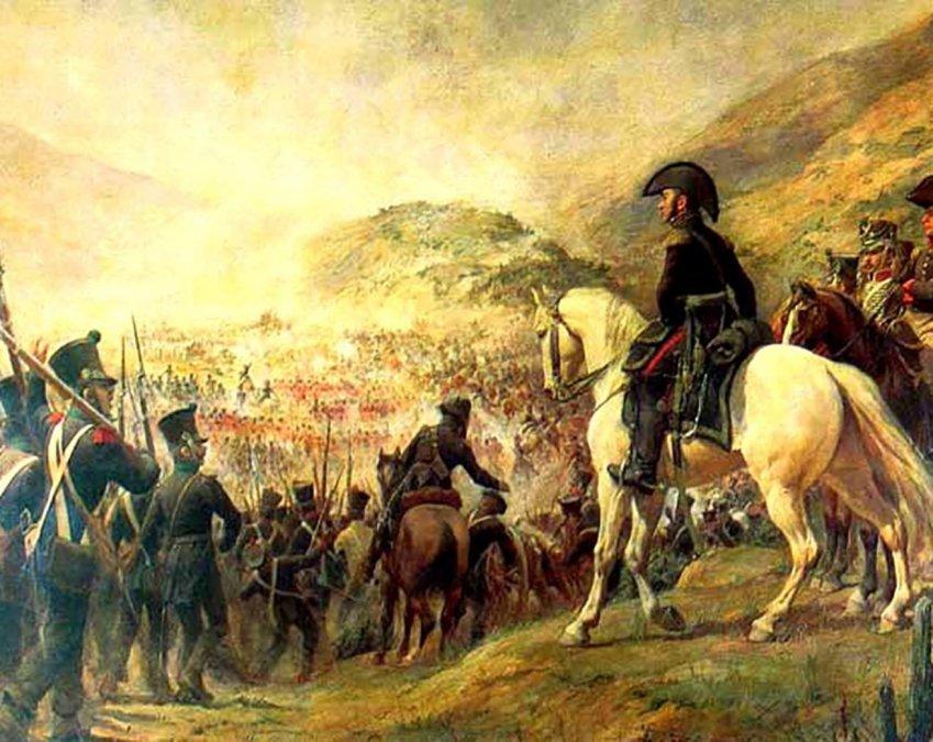 Tropas chilenas y argentinas rumbo a la Batalla de Chacabuco