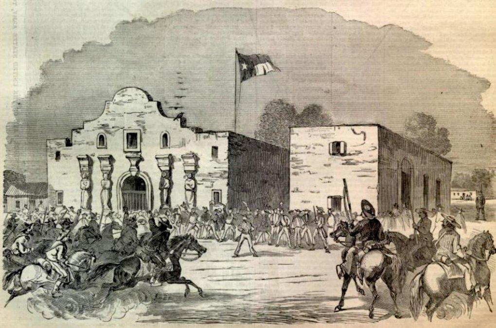 Dibujo de El Álamo en1854.