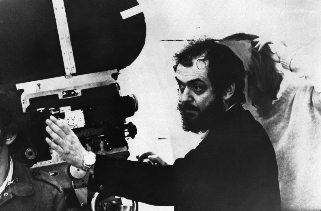 Stanley Kubrick en acción.