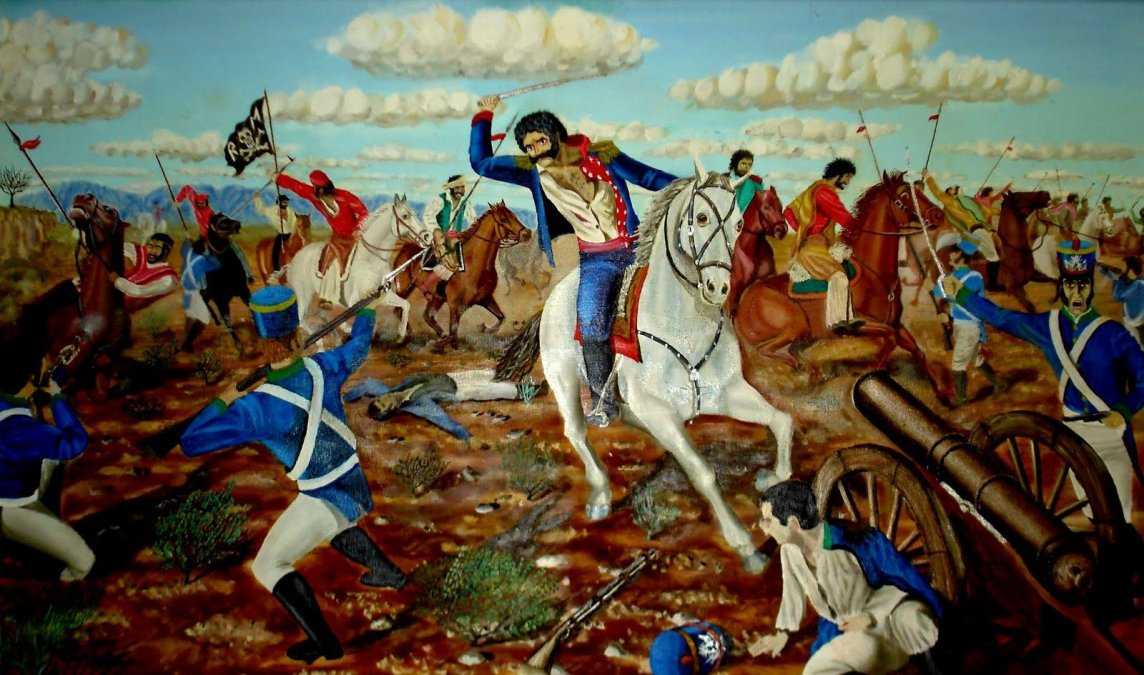Quiroga en la Batalla de La Tablada