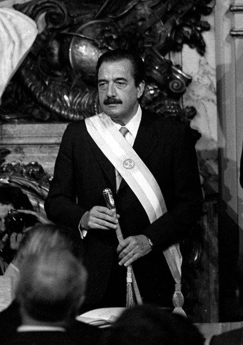 Raúl Ricardo Alfonsín.