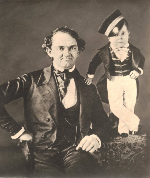 P. T. Barnum y Tom Thumb.