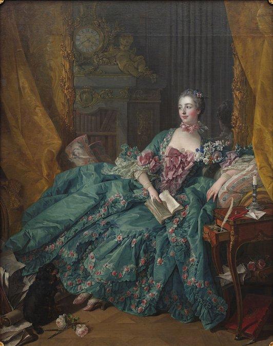 Madame de Pompadour por Francois Boucher (1756).