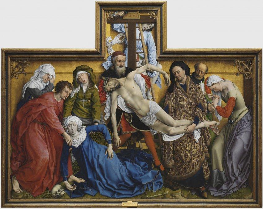 El Descenso de la cruz por Rogier van der Weyden (Museo del Prado