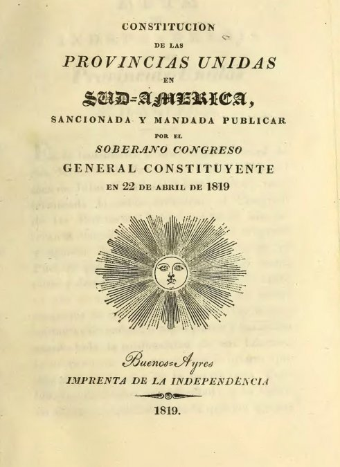 A 200 años de nuestra primera Constitución
