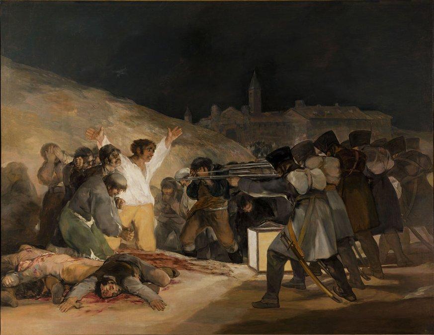 Los fusilamientos en la montaña del Príncipe Pío o Los fusilamientos del 3 de Mayo • Francisco de Goya • 1814•Museo del Prado