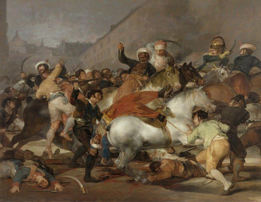El 2 de mayo de 1808 en Madrid o La carga de los mamelucos • Francisco de Goya • 1814•Museo del Prado