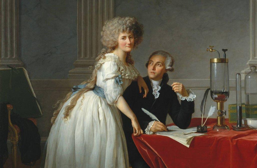 Retrato de Antoine Lavoisier y su esposa