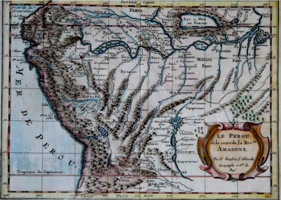 Mapa del Alto Perú.