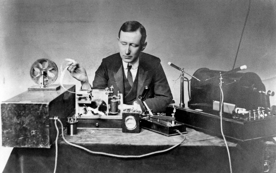 Marconi y la primera transmisión por radio de la historia