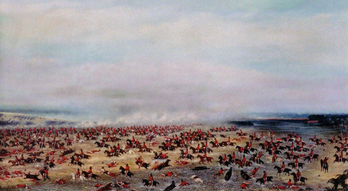 Batalla de Tuyutí. Pintura de Cándido López.