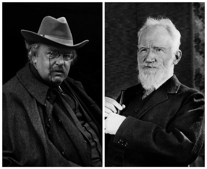 Gilbert KeithChesterton y George BernardShaw.