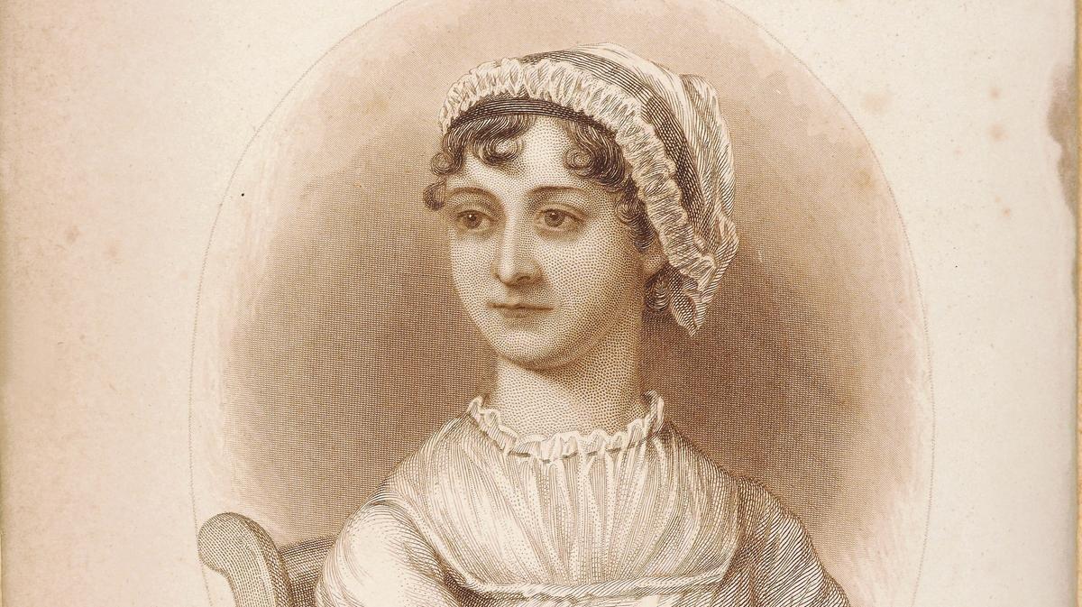 Grabado de Jane Austen basado en su retrato (1869).