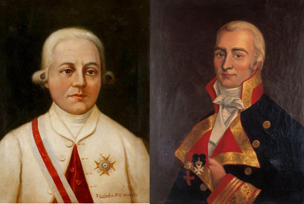 Rafael de Sobremonte y Núñez -Santiago Antonio María de Liniers y Bremond.