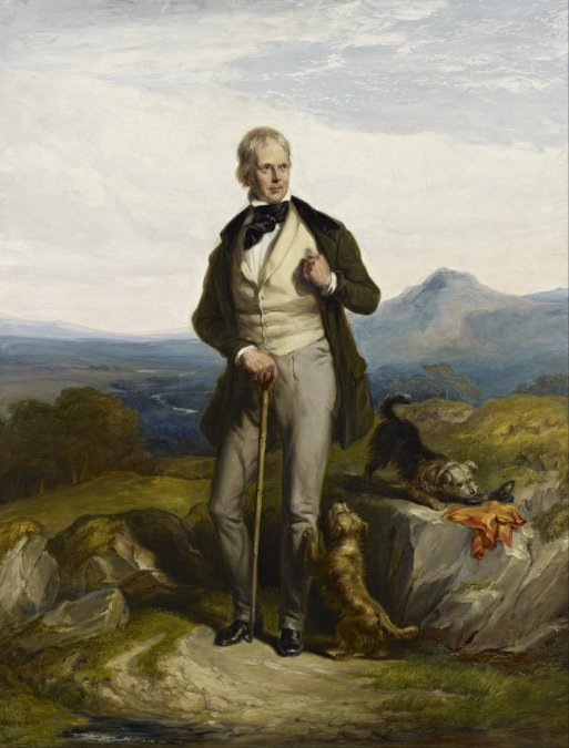 Sir Walter Scott retratado por Sir William Allan (1832).