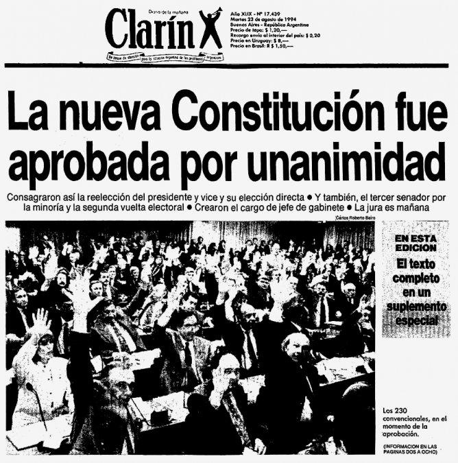 La reforma de la Constitución Argentina de 1994