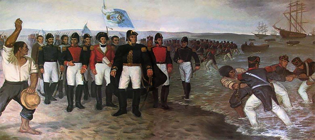 Desembarco deExpedición Libertadora del Perúen Pisco.