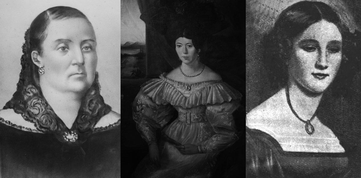 Ana Monterroso de Lavalleja-Bernardina Fragoso de Rivera- Trinidad Ladrón de Guevara Cuevas.