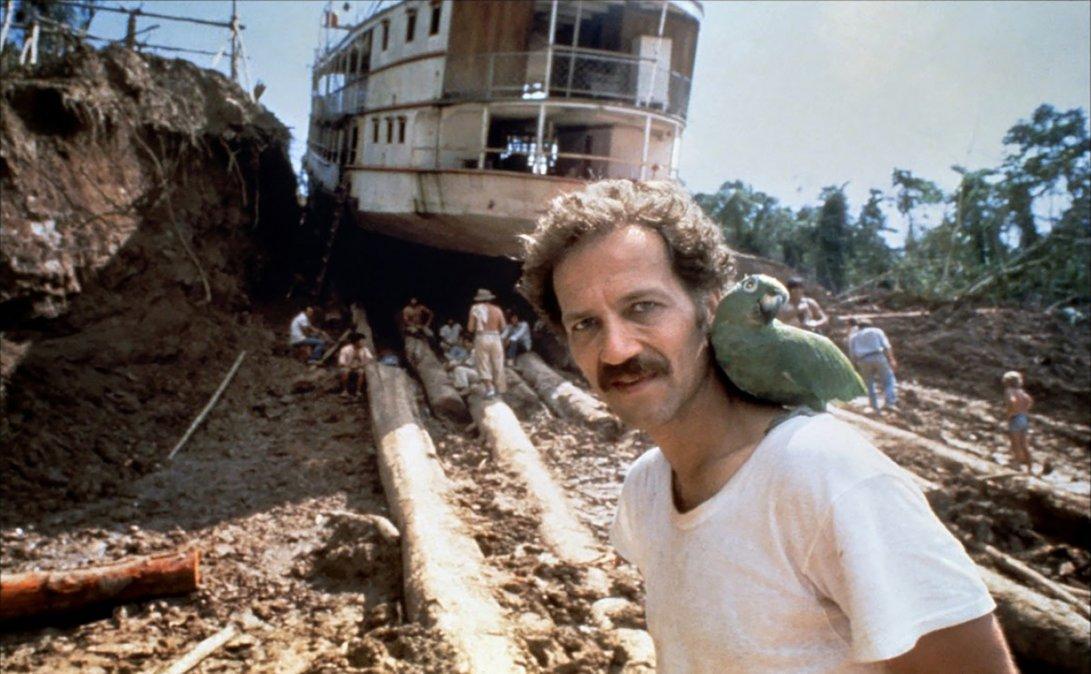 Herzog en el rodaje de Fitzcarraldo (1982).