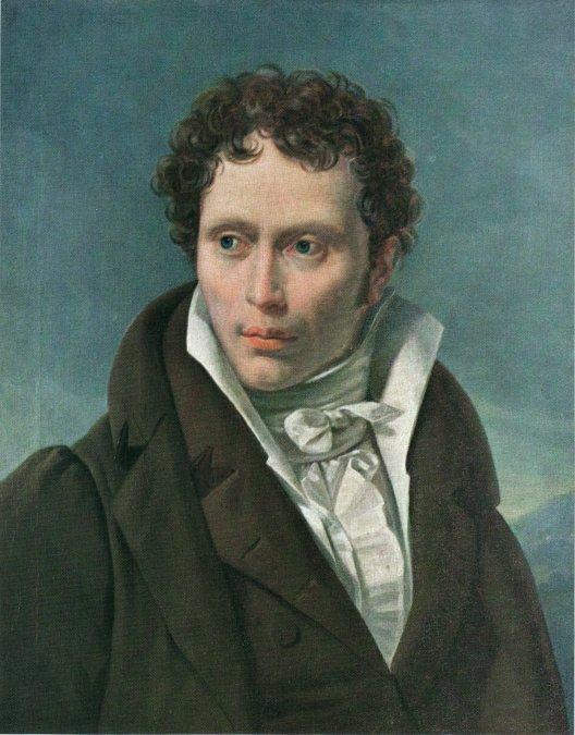 Arthur Schopenhauer - Retrato de Ludwig Sigismund Ruhl (1815).