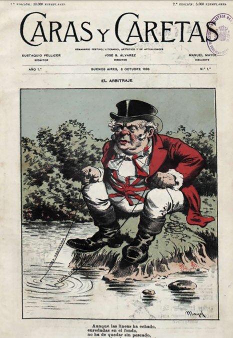 Tapa Caras y Caretas 8 de octubre de 1898.