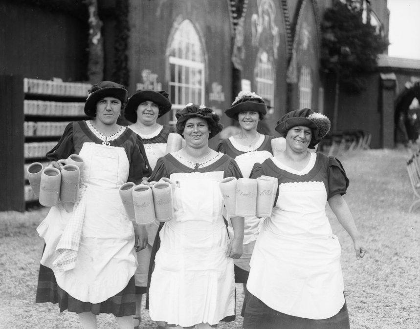 Oktoberfest en Munich - Fotografía de 1928.
