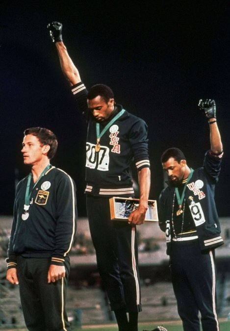 Quizá la fotografía deportiva más icónica que se haya tomado.